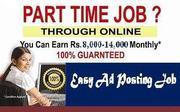 Free, Home Based Genuine Part Time Copy&Paste Form Filling Online Job