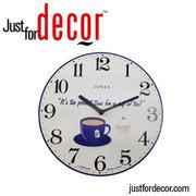 Buy Perfect Tea Time Kitchen Wall ClockI Justfordecor.com