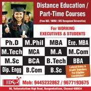 M Tech Part time Distance Education