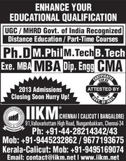 MCA Part Time Distance Learning