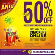 Anil crackers 50% off on a cracker and a crackers gift box
