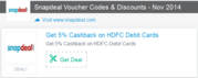 Snapdeal Coupon Code for Discount