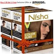 Nisha Color Sure Creme Hair Color Buy 1 & Get 1 Free
