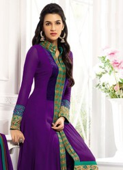 Purple New Designer Expensive Anarkali Suits just only on Rs.1499/-