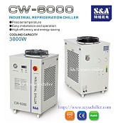 Air cooled recirculating chiller for laser welding head S&A brand CW-6