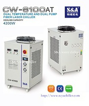 Recirculating chiller for water cooled fiber laser CW-6100AT