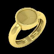 Engagement Fingerprint rings for couples