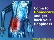 Chronic Low Back pain Can be cured through Homeopathy