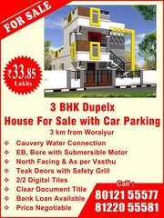 3 BHK  Indeependent House/Villa Woraiyur Extension