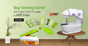 Buy Sewing Genie n get Super Dicer Pro worth Rs.1495 Free!!