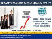 Diploma in Fire & Safety Course in Coimbatore – Aksafetytrainings.com