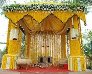 Wedding & festival's real flower stage Decoration across tamilnadu