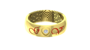 Fingerprint Ring with Wedding Date