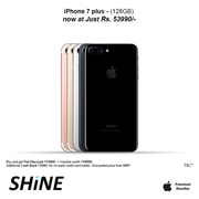 Special offer for iphone 7 Plus – 128GB only on shine poorvika