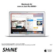 Apple Macbook Air128GB Exclusive Discount offer only at SHINE Poorvika