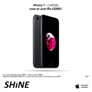 Apple Iphone 7 128GB Exclusive offers and discounts at Shine poorvika