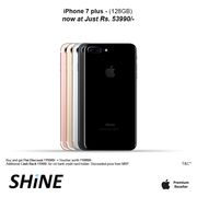 Apple Iphone 7 Plus 128GB Best discounts and offers on Shine Poorvika