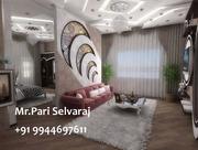 Parifalseceiling-9944697611 interior designing in pondicherry