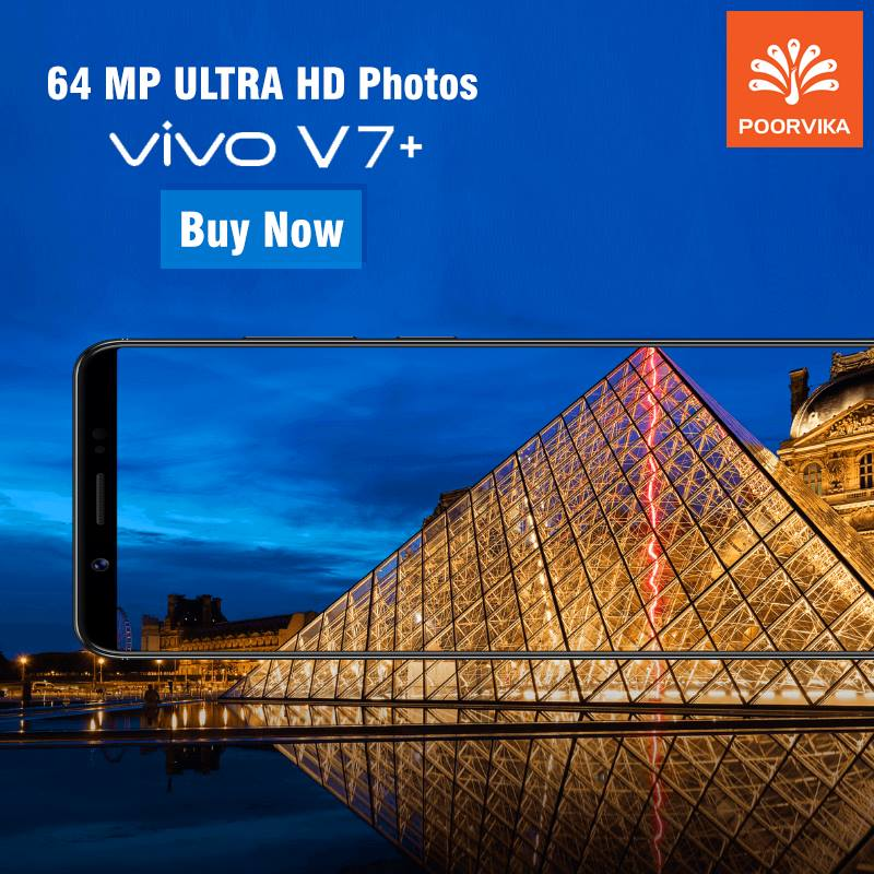 Vivo V7 Plus price in india available on poorvikamobiles