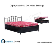 Olympia Metal Cot With Storage