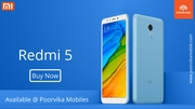 Attractive Mobile Redmi 5 now available @ Poorvika Mobiles