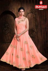 Anantham Silks in Peach Color ReadyMade Chudithar