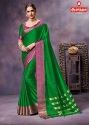 Anantham Silks in Lush Green Aura Saree