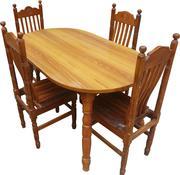 D4Four Chair Teak wood Dining TAble