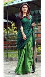 Party Wear Linen Sarees Online Paarijaatham