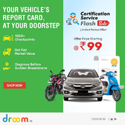 Droom Certification Service Flash Sale Starts Just at Rs. 99 Only