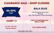 Bala Silks Clearance Sale - Shop Closing