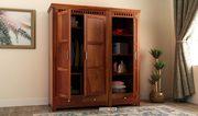 Check Latest range of 3 door wardrobe Online at Wooden Street