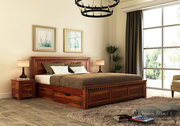 Heavy discount offer on queen size beds online @ Wooden Street