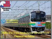 Get 24*7 Emergency Train Ambulance Service in Chennai by HIFLY ICU