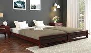 Get heavy sale on queen size beds - Wooden Street