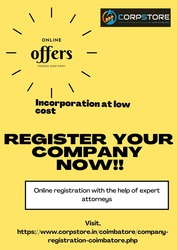 Get Company Registration in Coimbatore | Corpstore