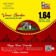 Residential land for sale in coimbatore near madukarai,  nachipalayam